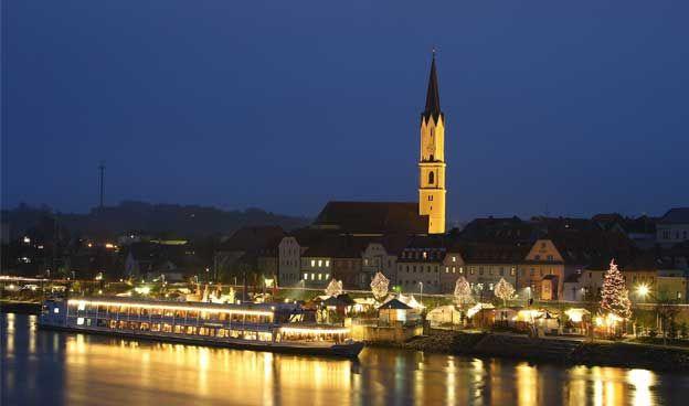 Marché de Noël - Sur un bateau à Vilshofen an der Donau