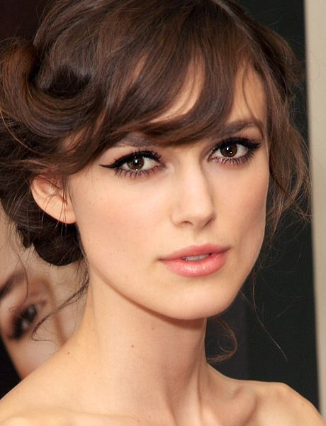 Keira Knightly. LOVE her hair and her natural makeup look!
