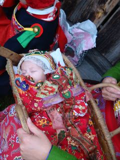 Folk costume gathering in Dalarna, Sweden. Never too young to dress up!