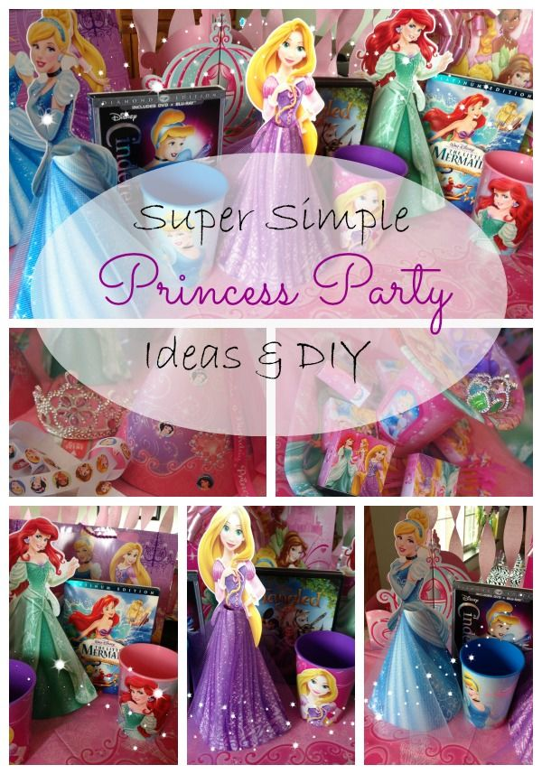 Disney princess party - Get almost everything at Walmart cheap, do a few DIY touches, and have a super perfect party!