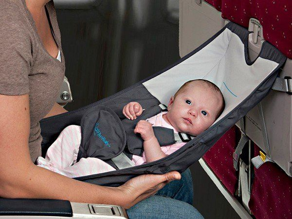 Baby Airplane Seat by Flyebaby - Meet FlyeBaby—a hammock type seat that provides a comfortable, convenient place to rest your baby during the cruise portion of a flight.
