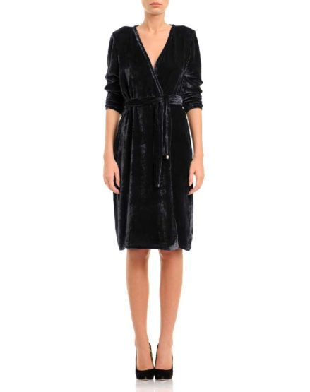 #silk #velvet #dress #wrapdress