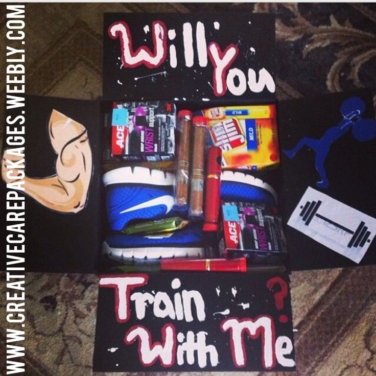 Creative Care Packages-Fitness Theme {military Care