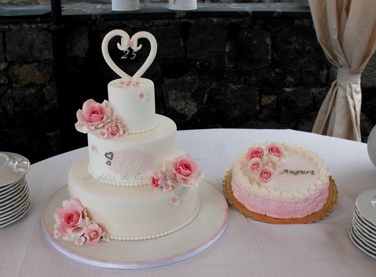 Torta 25 anni di matrimonio  25° anniversary wedding