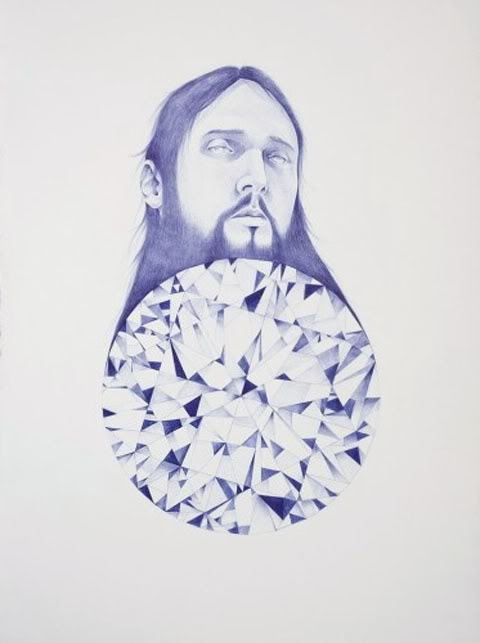 Laith McGregor: all his art drawn with biro only