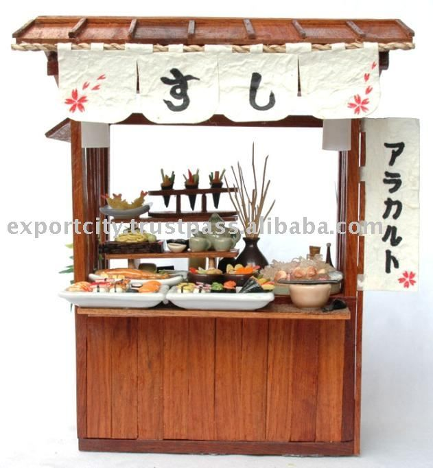 Miniature Japanese store 1:12 (clay) Theme