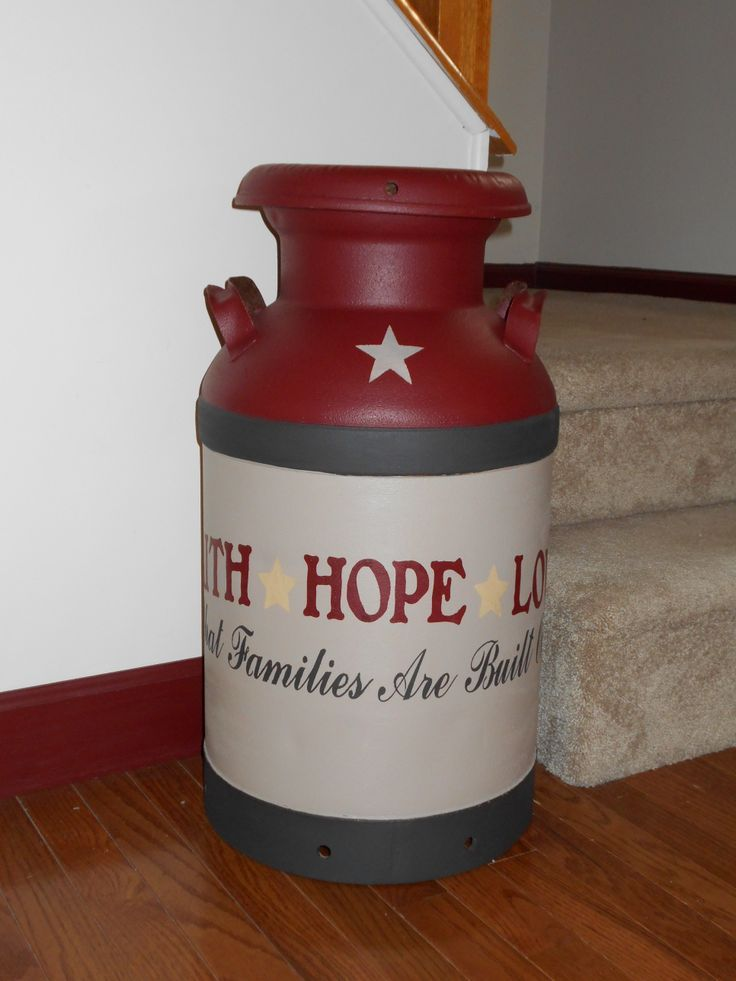 painted milk can like the saying on it