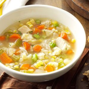Chicken Corn Soup with Rivels
