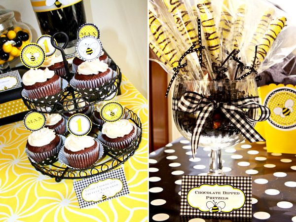 For Liam's bumble bee themed party!!