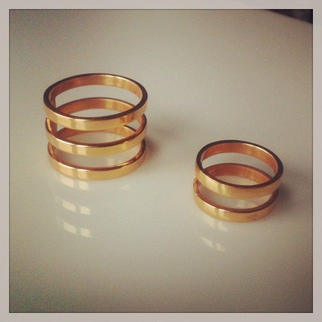 Gold-platted silver rings by Melio