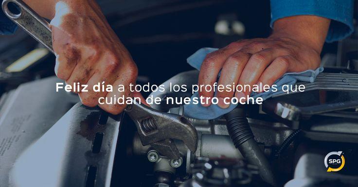 Feliz día a todos los profesionales que cuidan día a día de nuestros vehículos. ¡ Feliz día del #mecánico !  #tallerdecoches #mecanicodecoches #automóvil http://www.spgtalleres.com