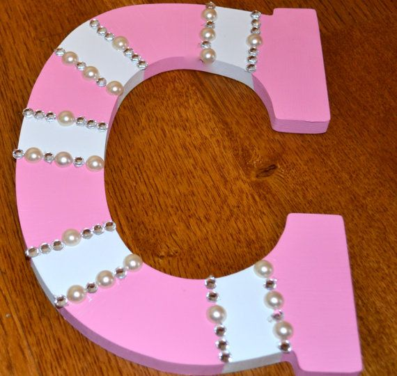 All hand painted wooden letters for by MamasCreativeBreak on Etsy
