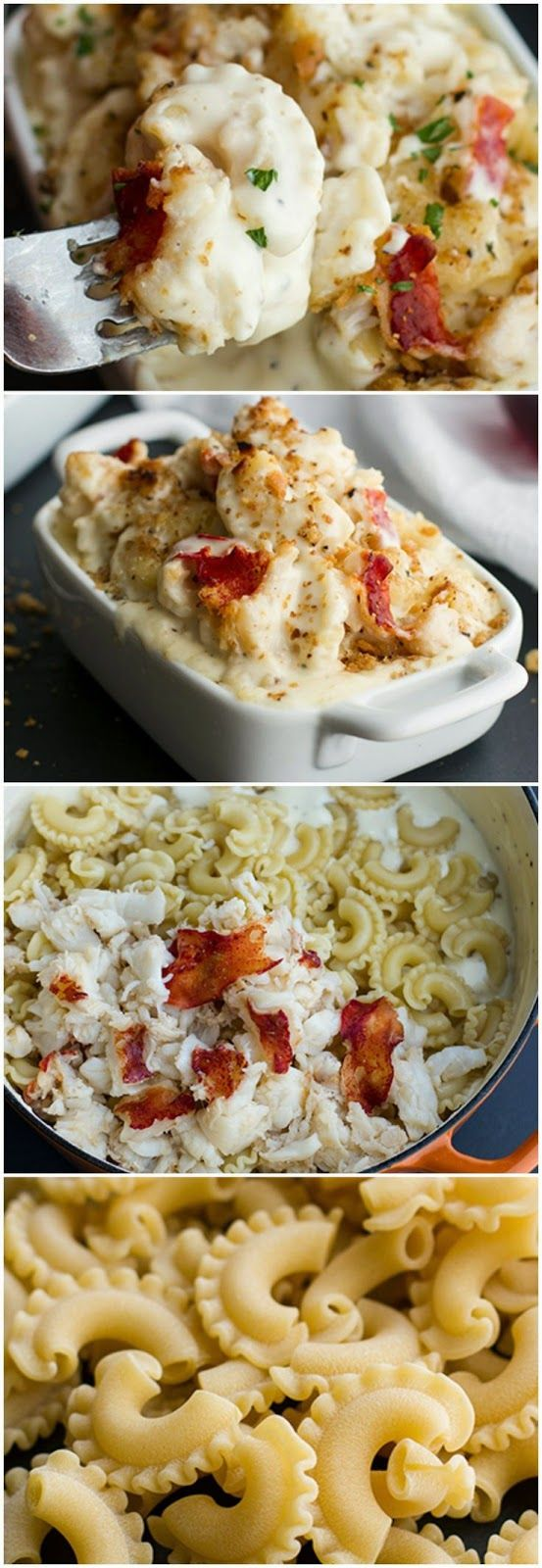 Lobster Mac and Cheese~I love lobster mac and cheese!! I could eat it everyday!!