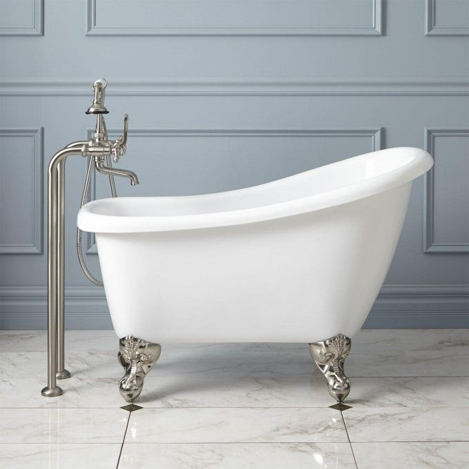 "44"" Carter Mini Acrylic Clawfoot Tub. Not a bathtub guy, but like the small size and the Old West shape of the tub."