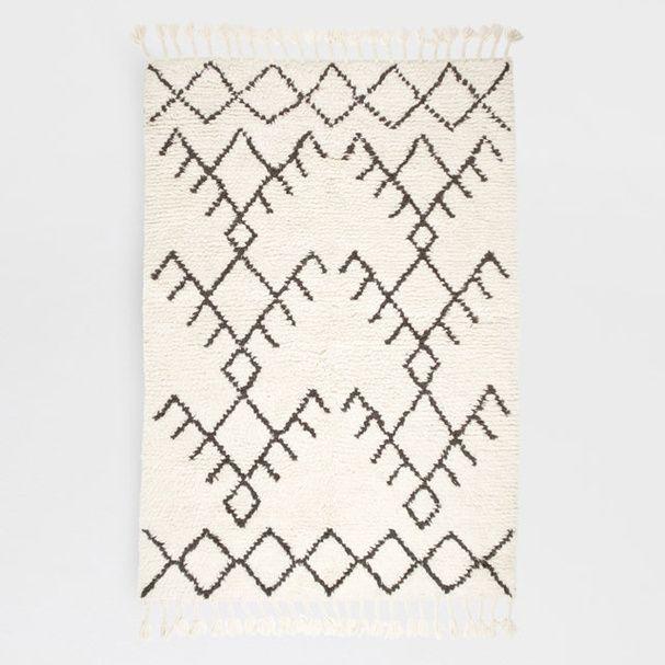 Un tapis bicolore