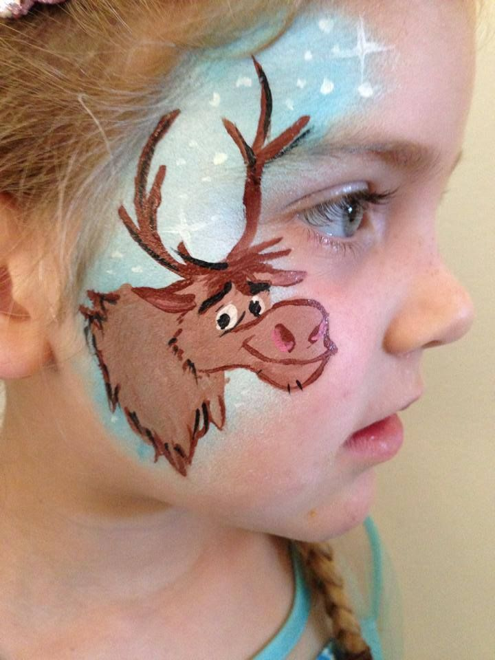 1000 images about face paint frozen ideas on pinterest for Frozen face paint