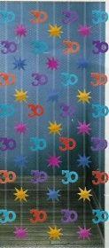 1 Tür-Dekoration 30.Geburtstag Girlanden 1,98m