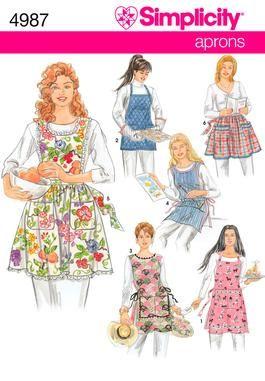 ApronsApron Sewing Patterns, Aprons Pattern, Pattern 4987, Simplicity Sewing Patterns, 4987 Aprons, Aprons Sewing, Simplicity Pattern, Apron Patterns, 4987 Simplicity