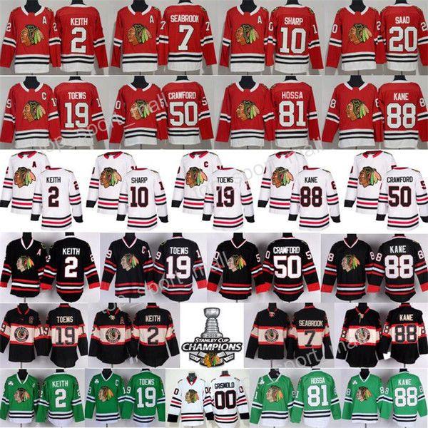 Chicago Blackhawks Jerseys Hockey  Duncan Keith Jonathan Toews Patrick Kane  #Reebok #ChicagoBlackhawks