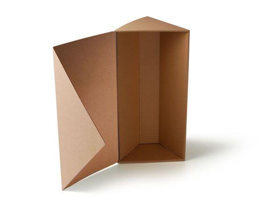 Resultado de imagen de caja de carton triangular