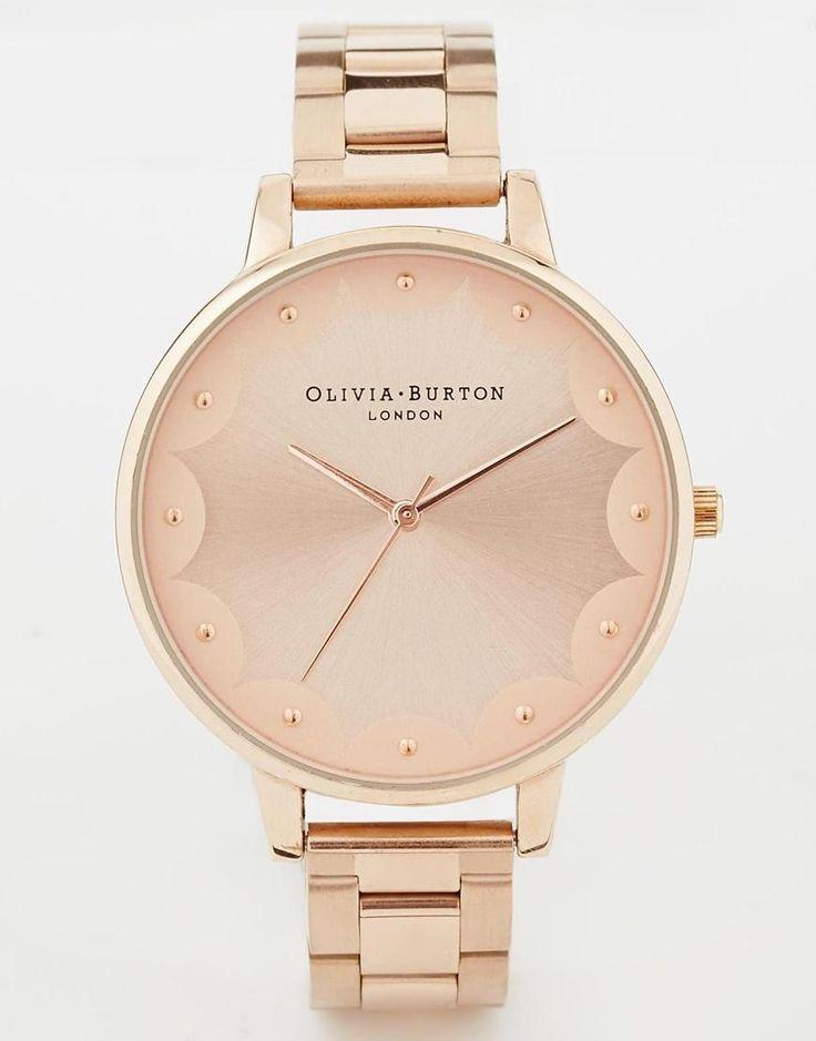 Olivia Burton | Olivia Burton - Montre-bracelet or rose à bordure festonnée chez ASOS