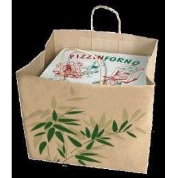 Bolsa sos caja pizza, modelo FEEL GREEN  en color natural kraft. http://www.ilvo.es/es/product/bolsa-sos-caja-pizza-kraft
