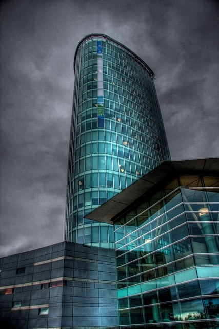 HDR / Architecture / Central City / Surrey / SFU / BC / Building / Clouds / Glass / Tower /by Kyle Bailey, via Flickr