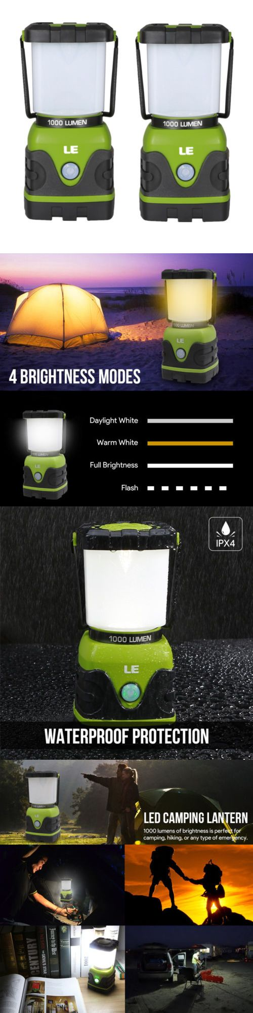 Lanterns 168867: 2Pcs Portable Led Camping Lantern For Home Garden Outdoor Hiking Emergency -> BUY IT NOW ONLY: $39.98 on eBay!