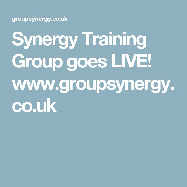 Synergy Training Group goes LIVE! www.groupsynergy.co.uk