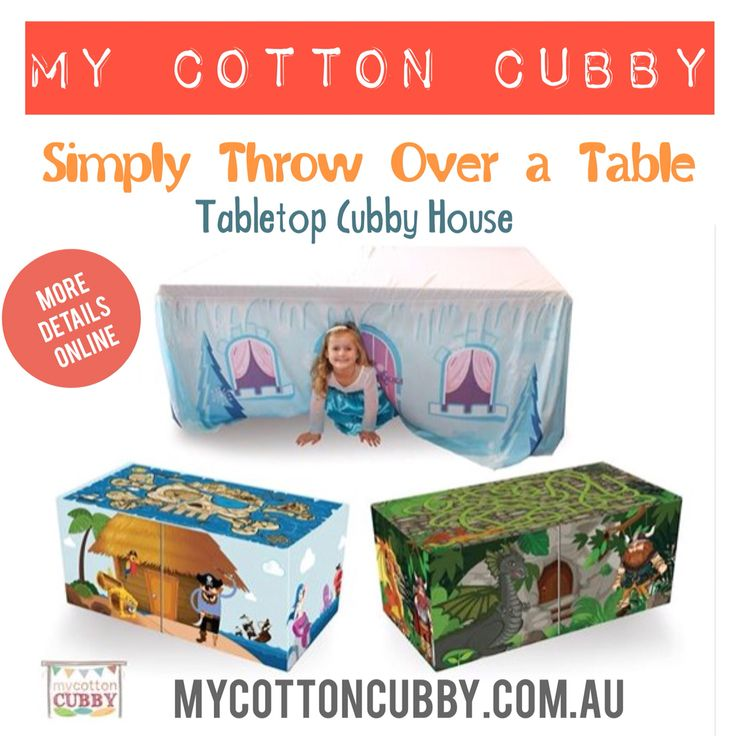 Looking for a simply indoor activity for the kids? My Cotton Cubby is the solution. Simply throw the cubby over a table and the fun begins. www.mycottoncubby.com.au for more info and orders.