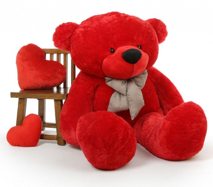 Giant Teddy  - Bitsy Cuddles Soft and Huggable Jumbo Red Teddy Bear 72in - Giant Teddy Bear!, $189.99 (http://www.giantteddy.com/bitsy-cuddles-soft-and-huggable-jumbo-red-teddy-bear-72in-giant-teddy-bear/)
