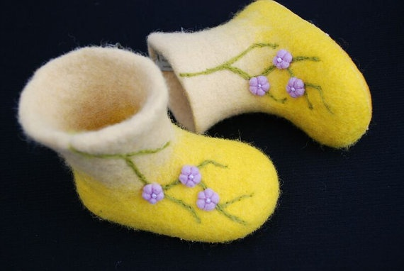 Cherry blossoms for little girls Handfelted by zavesfelt on Etsy