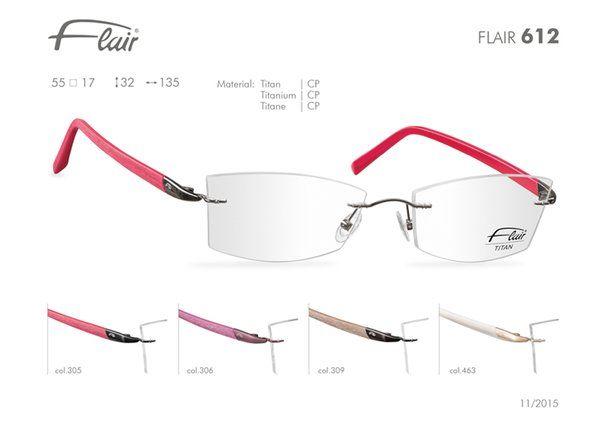 FLAIR Brillen made in Germany: Flair randlose Brillen Modell 612