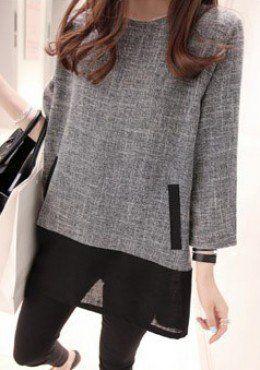 Buy Minimalist Long Sleeve Top | mysallyfashion.com Malaysia
