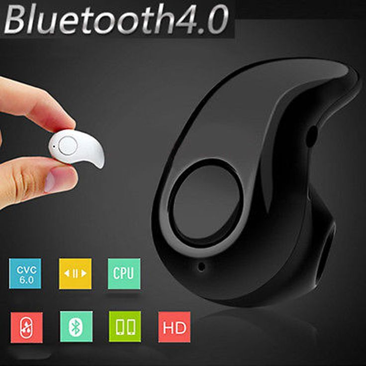 4 Colors Ultra Small Bluetooth 4.0 Stereo Music Sport In-Ear Headset Earphone Earbud Earpiece For Cell Phone