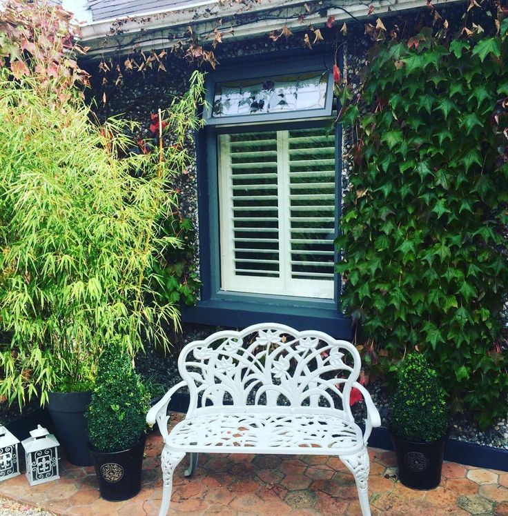 Take a seat and relax enjoy the last of our summer. Shutters fitted in Terenure. It's all in the finishing touches. #exteriordesign #exteriorpainting #greywindows #paintedfurniture #shuttersdublin #plantationshutters #gogreen #lastofthesummerdays #shutters - Recent Work