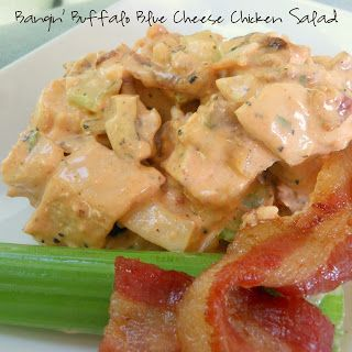 ' Buffalo Blue Cheese Chicken Salad - chicken salad with bacon, blue ...