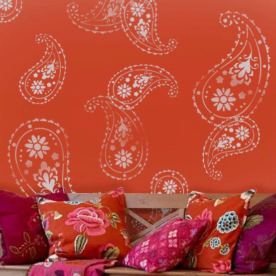 Almora Indian Paisley stencil Painting stencils by IdealStencils