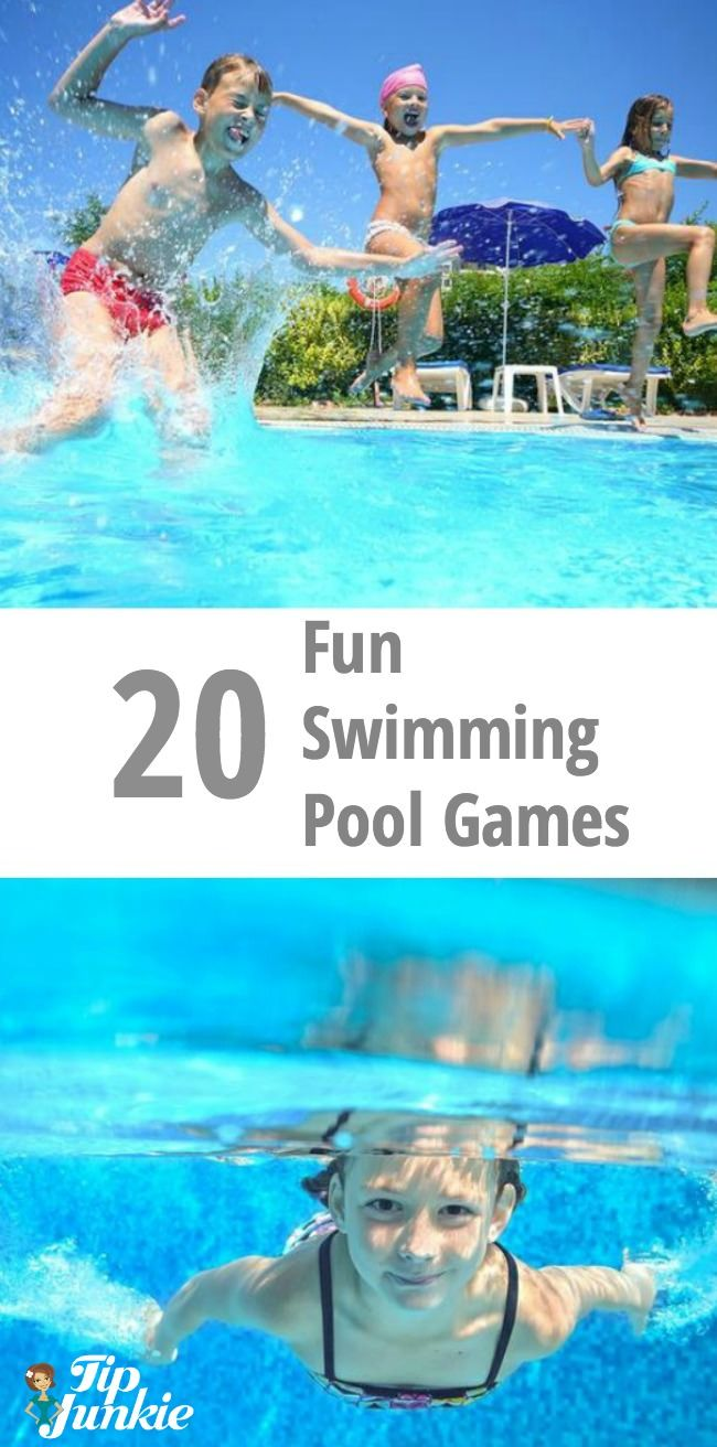 Your kiddos won't get bored swimming with these 20 Fun Swimming Pool Games for Kids! Perfect for parties, too! via @tipjunkie