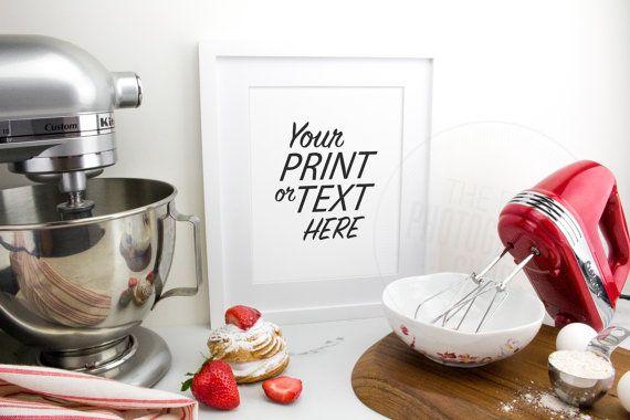 Print Background / Blank Frame / Styled Stock Photography / Product Photography / Staged Photography / Red / Fruit / Baking / Kitchen / K007