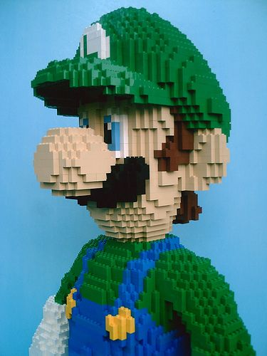 lego: Lego Fun, Giant Lego, Videos Games, Awesome, Lego Artworks, Lego Creations, Artworks Creations, Lego Luigi, Legoluigi