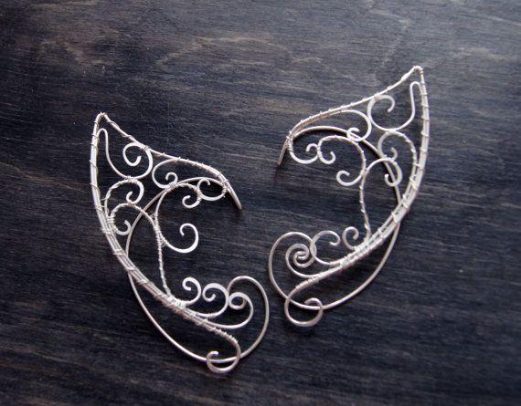 Elfen Ohren pro Paar. EarCuffs Elf Ohren von RomanticElfJewelry