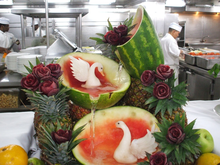 Amazing fruit carving - P&O Pacific Dawn