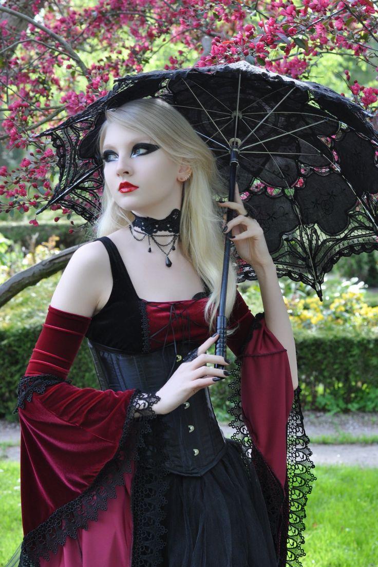 : Gothic Beautiful, Goth Girls, Gothic Stockings, Bridesmaid Dresses, Dark Beautiful, Gardens Trees, Gothic Girls, Medieval Gothic, The Dresses