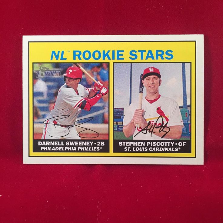 2016 Topps Heritage NL Rookie Stars Darnell Sweeney & Stephen Piscotty Happy Birthday Darnell!!! Hopefully you have a productive spring training with the Dodgers! . . . #phillies #philadelphiaphillies #darnellsweeney #stephenpiscotty #topps #heritage #2016 #nl #rookie #stars #nlrookiestars #baseballcards #baseballcard #mlb #baseball #philly #philadelphia #birthday #birfday #philliesnation #philliesfan #philliescollection