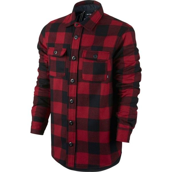 Nike SB Herren Hemd Buffalo Plaid - GYM RED  1