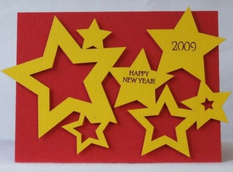 Bright and bold DIY Happy New Year card!