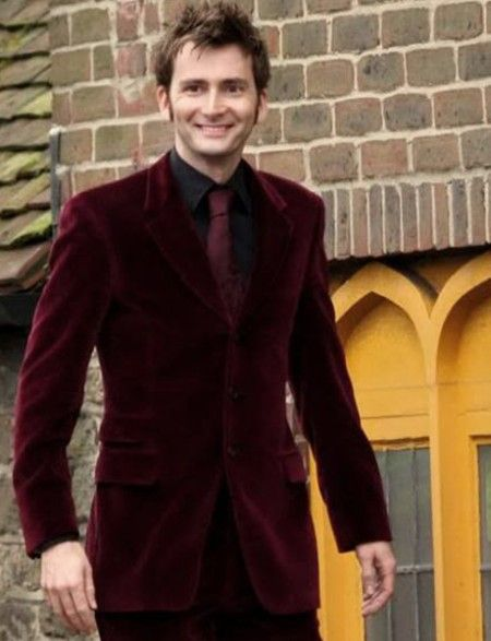 David Tennant Elegant Burgundy Velvet Suit ON SALE at Extremely Affordable Price. Our Expert Tailors have crafted this Suit Using Premium Quality of Velvet.