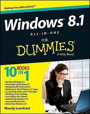 Windows 8.1 All-in-One For Dummies NEW paperback