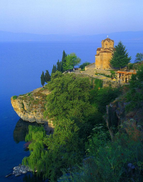 Church, Lake Ohrid, Macedonia